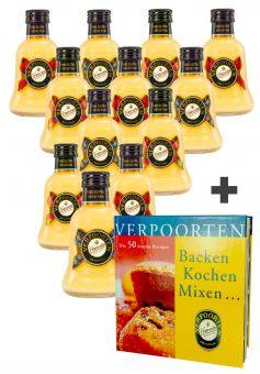 12 x Glockenflasche 0,2 L VERPOORTEN ORIGINAL Eierlikör 20 %vol Motive: Royal, Classic und Modern Art
