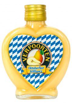 Herzflasche 0,2 L VERPOORTEN LIMITED EDITION Oktoberfest Eierlikör – William's 17 %vol
