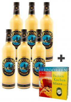 6 x Eierpunsch 0,75 L Flasche VERPOORTEN-Punsch 11 %vol