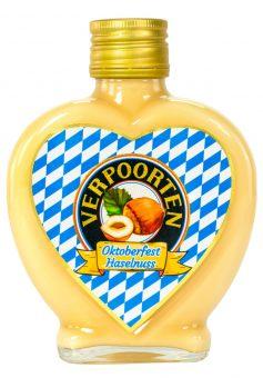 Herzflasche 0,2 L VERPOORTEN LIMITED EDITION Oktoberfest Eierlikör – Haselnuss 17 %vol